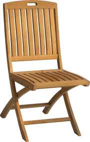 Aqua Traditional Folding Side Chair