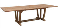 "Aqua Majestic 122"" Rectangular Double Extension Table"