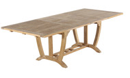 "Aqua Majestic 94.5"" Rectangular Double Extension Table"