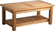 "Aqua Solstice 42"" Coffee Table with Shelf"