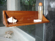 The Original Moa Straight Teak Shower Shelf