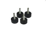 Set of Four Non-Slip Stainless Steel Adjustable Rubber Feet
