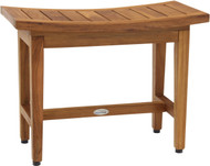 "24"" Maluku Lotus Teak Shower Bench"