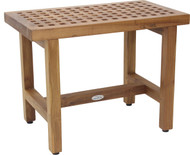 "24"" Grate Lotus Teak Shower Bench"