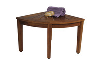 "The Original 22"" Kai Corner Teak Shower Bench"