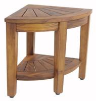 teak side table with shelf