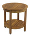 Teak side table with shelf