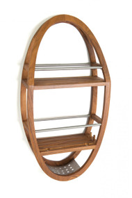 teak shower organizer