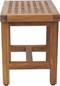 "18"" Grate Lotus Teak Shower Bench"
