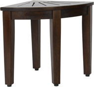 "15.5"" Kai™ Corner Walnut Teak Side Table"