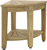 "15.5"" Kai™ Natural Corner Teak Side Table with Shelf"