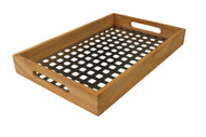Teak & Stainless Steel Serving Tray - From the Grate Collection