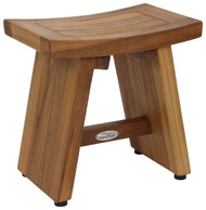 "13"" Asia® Teak Shower Foot Stool"