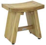 "13"" Asia® Natural Teak Shower Foot Stool"