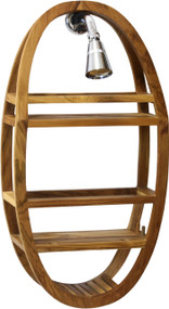 Patented Moa Teak Shower Organizer (Clear Coat)