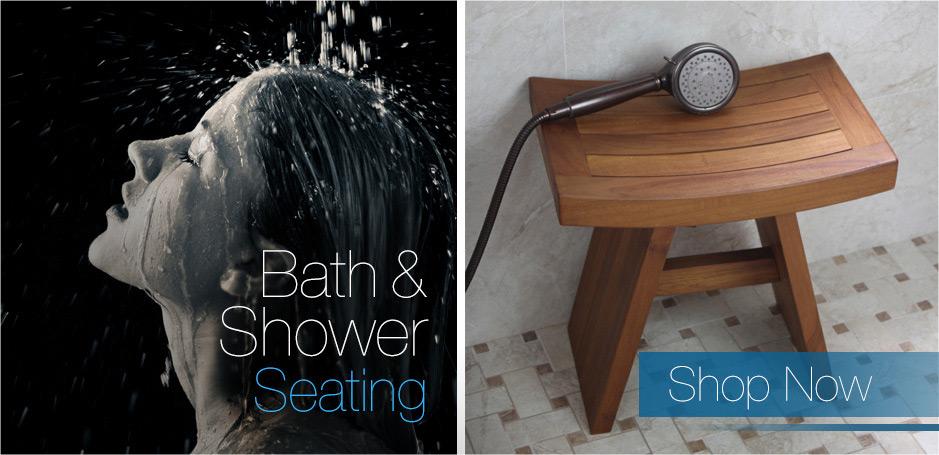 Teak Shower Bench | Teak Bath Stools | Teak Furniture - AquaTeak