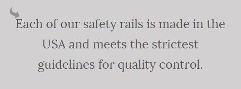 A note on guard rail safety.