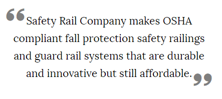 There are a number of benefits to our safety rails.