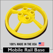 SRC 360 - MOBILE SAFETY RAIL BASE PLATE - YELLOW