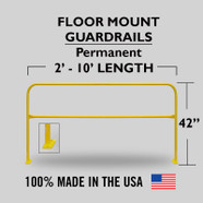 PERMANENT FLOOR MOUNTED GUARDRAILS
