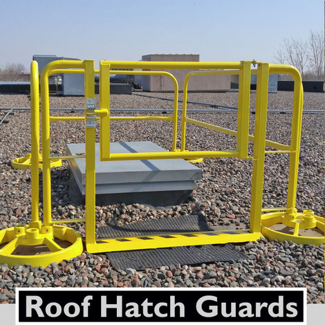 ROOF HATCH GUARDING WITH SRC 360 MOBILE SAFETY RAILING