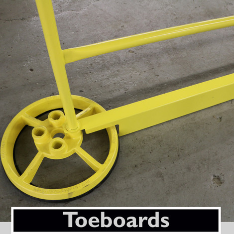 TOEBOARDS WITH SRC 360 MOBILE SAFETY RAILING