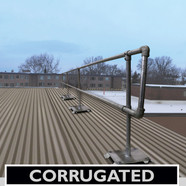 ACCU-FIT GUARDRAIL FOR CORRUGATED METAL DECKS