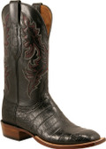 Lucchese Cowboy Seguin Black Ultra Crocodile Belly Cut C1000