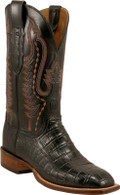 Lucchese Cowboy Lampasas Black (Three Piece Vamp) Ultra Crocodile Belly Cut C1050