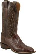 Lucchese Cowboy Lampasas Sienna (Three Piece Vamp) Ultra Crocodile Belly Cut C1051