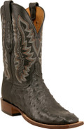 Lucchese Cowboy Bandera Black Full Quill Ostrich C1102