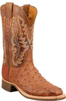 Lucchese Cowboy Bandera Barnwood Burnished Full Quill Ostrich C1104