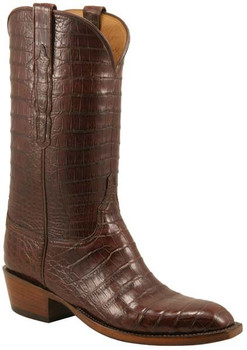Lucchese Classics Ultra Belly Crocodile Full Vamp & Quarters Sienna L1350