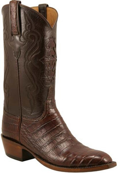 Lucchese Classics Ultra Crocodile Belly Cut Sienna L1409