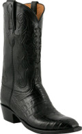 Lucchese Classics Ultra Crocodile Belly Cut Black L1410