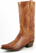 Lucchese Classics Buffalo Calf Cognac Burnished Baby Buffalo L1660
