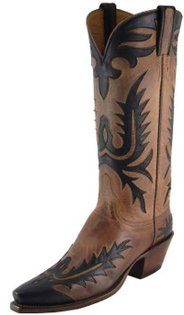 Ladies Lucchese Classics Vintage Tan Mad Dog Goat L7045