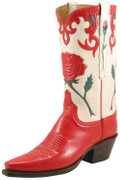 Ladies Lucchese Classics Vintage Red & White Goat L7047