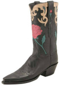 Ladies Lucchese Classics Vintage Black Mad Dog Goat L7048