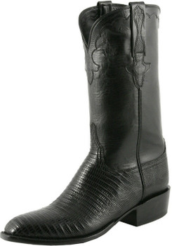 Lucchese Classics Classic Cowboy - Lizard With Kennedy Band Black L9400