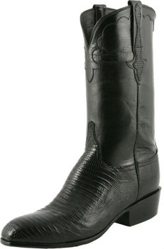 Lucchese Classics Classic Cowboy - Lizard With Kennedy Band Black L9401