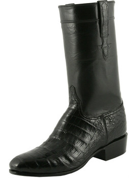 Lucchese Classics Classic Regal Ultra Belly Crocodile With Regal Cord Black L9476