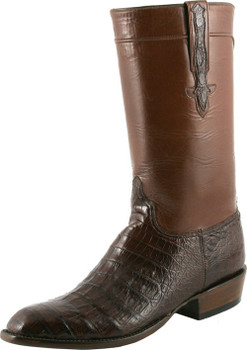 Lucchese Classics Classic Regal Ultra Belly Crocodile With Regal Cord Sienna L9477