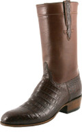 Lucchese Classics Classic Regal Ultra Belly Crocodile With Regal Cord Sienna L9478