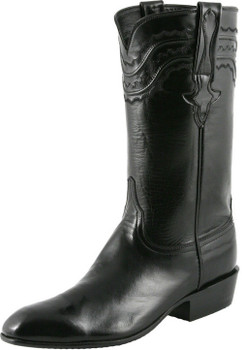 Lucchese Classics Classic Cowboy With Louis Cord Black Calf L9501