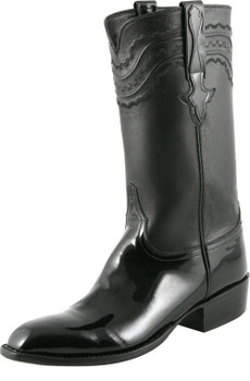 Lucchese Classics Classic Cowboy With Louis Cord Black Patent Calf L9504