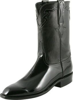 Lucchese Classics Classic Roper With Crosby Band Black Patent Calf L9576