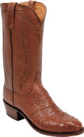 Lucchese 1883 Arnold Antique Cognac Diego Full Quill Ostrich N1017
