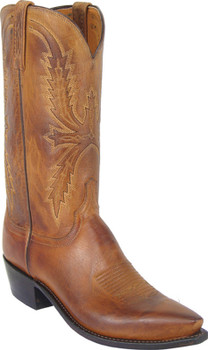 Lucchese 1883 Adams Tan Burnished Mad Dog Goat N1547