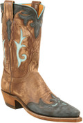 Lucchese 1883 Rios Inlay w/ Greer Collar Destroyed Antique Brown Buffalo W/black Buffalo Wingtip Destoyed N4647